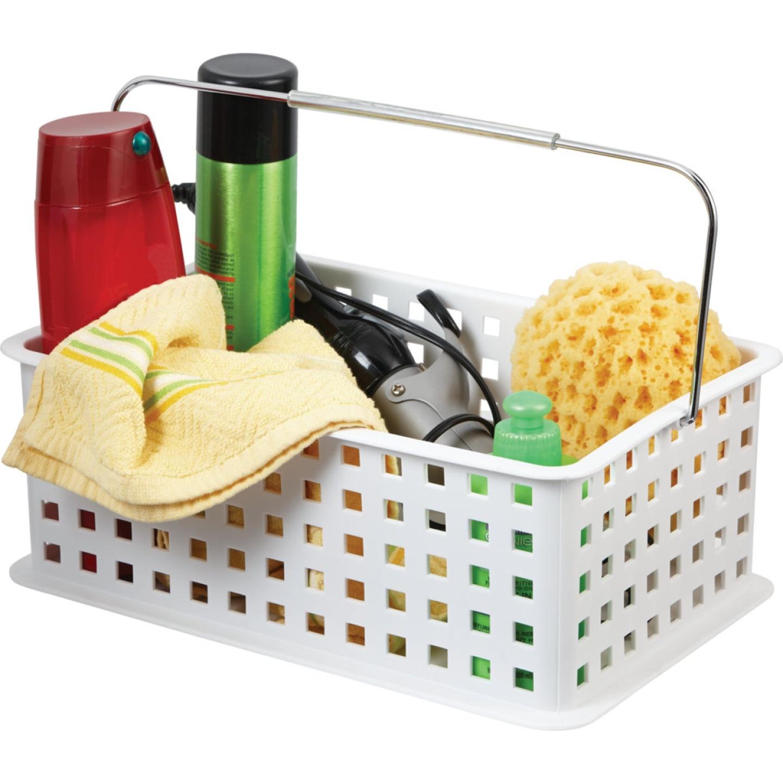 InterDesign Medium White Plastic Basket Image 2