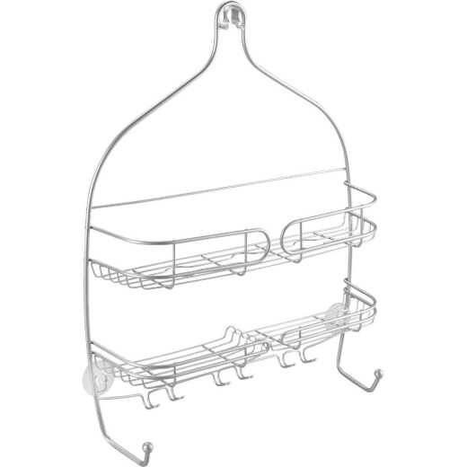 iDesign Neo Wide Silver Shower Caddy