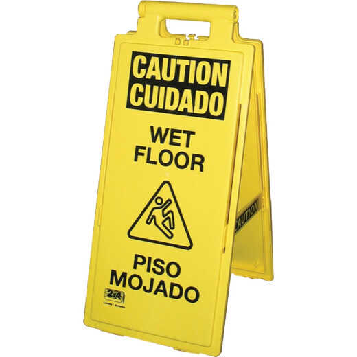 Impact Lockin'Arm Caution Wet Floor Sign