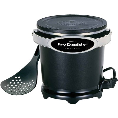 Presto FryDaddy 1 Qt. Black Aluminum Deep Fryer