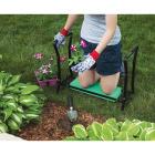 Best Garden Green Foam Pad w/Black Steel Frame Garden Kneeler Bench Image 3
