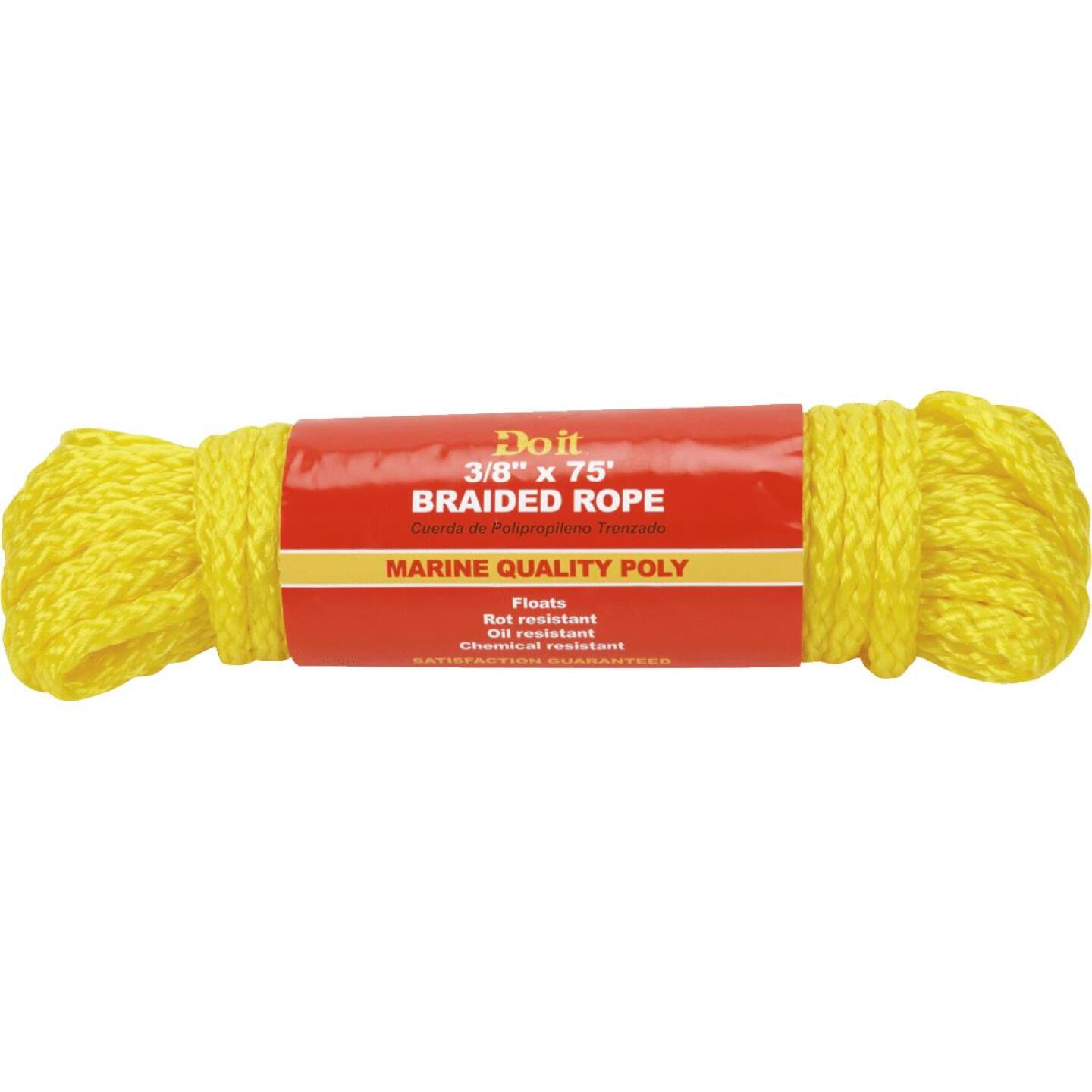 Do it 3/8 In. x 75 Ft. Yellow Braided Polypropylene Packaged Rope Image 1