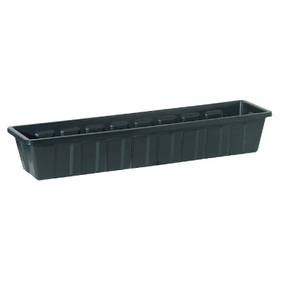 Novelty Poly-Pro 30 In. Polypropylene Hunter Green Flower Box Planter