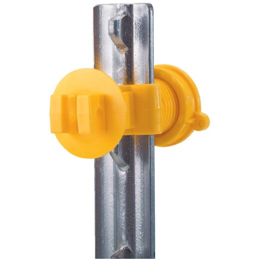 Dare Screw-On Yellow Polyethylene Electric Fence Insulator (25-Pack)