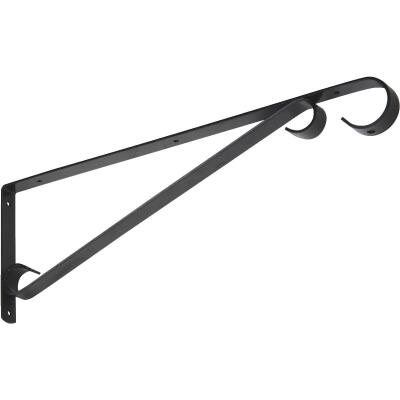 National 15 In. Black Steel Hanging Plant Bracket