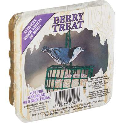 C&S 11 Oz. Berry Treat Wild Bird Suet
