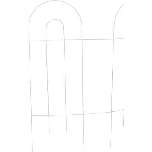 Best Garden 10 Ft. Powder-Coated White Wire Folding Fence