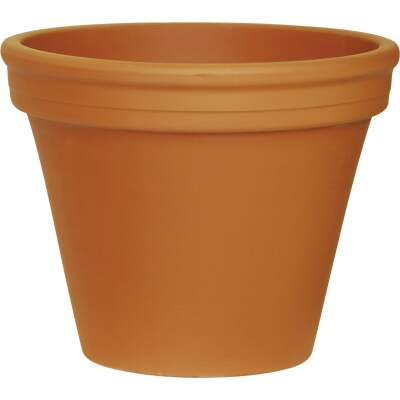 Ceramo 8-3/4 In. H. x 10-1/4 In. Dia. Terracotta Clay Standard Flower Pot