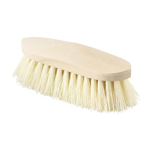 Decker Synthetic Rice Root Bristles 2 In. Trim Size Grip-Fit Stiff Grooming Brush