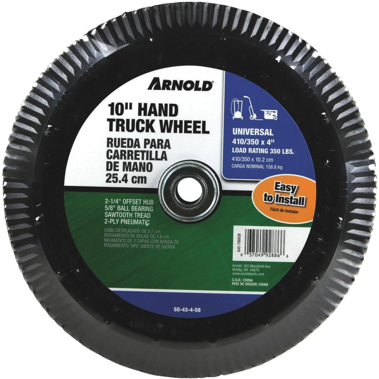 Arnold 410/350x4 Replacement Wheel Assembly Image 1