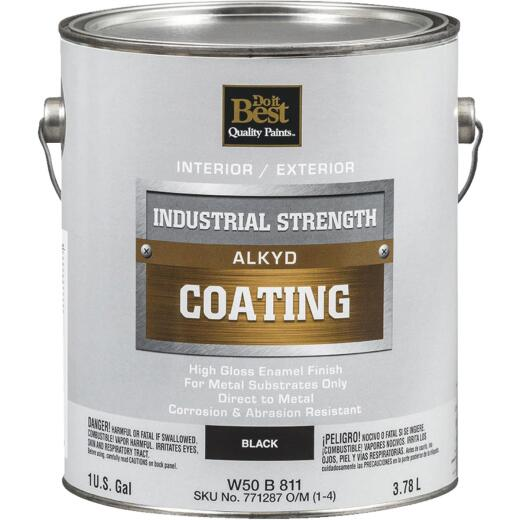 Do it Best Alkyd Industrial Coating, Black, 1 Gal.