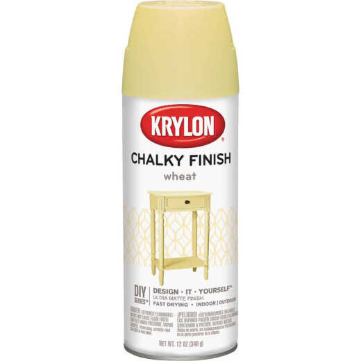 Krylon CHALKY FINISH 12 Oz. Ultra Matte Chalk Spray Paint, Wheat