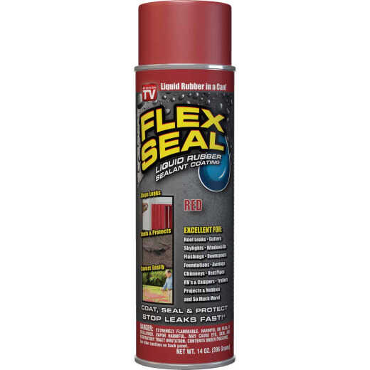 FLEX SEAL 14 Oz. Spray Rubber Sealant, Red