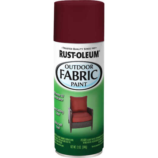 Rust-Oleum 12 Oz. Flat/Matte Outdoor Fabric Spray Paint, Dark Red