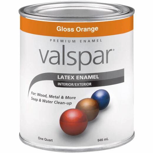 Valsar Premium Latex Enamel, Orange, 1 Qt.