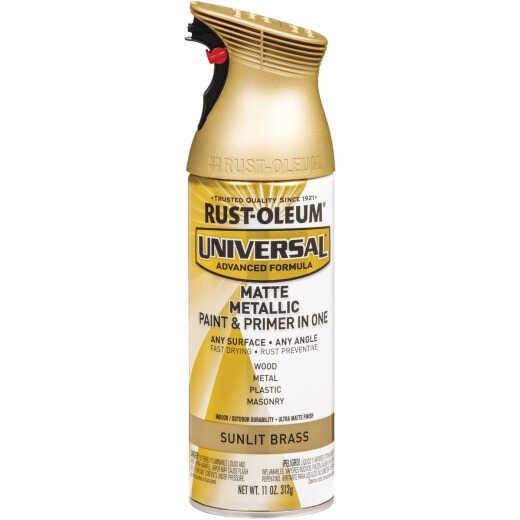 Rust-Oleum Universal 11 Oz. Matte Metallic Sunlit Brass Spray Paint