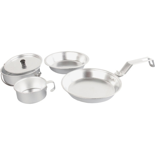 Coleman 5-Piece Aluminum Mess Kit with Cover